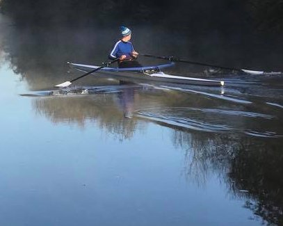 Junior Sculler out training