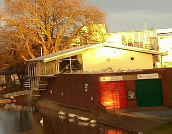 The Worcester Rowing Club boathouse