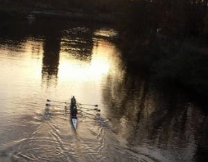 Rowing near the Cathedral