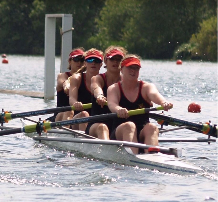 Worcester Women's four racing - and winning - at Henley Regatta