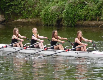 Junior girls quad racing